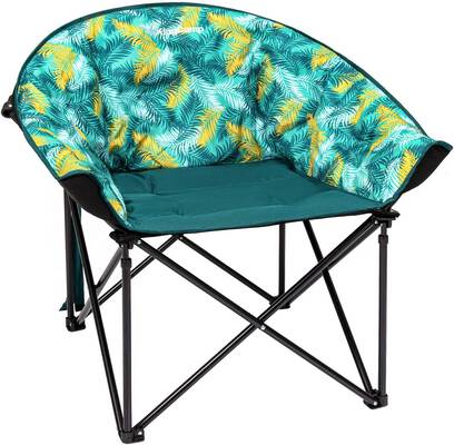 #3. KingCamp Grey w/Cup Holder & Cooler Bag Heavy-Duty Steel Camping Chair Padded Seat