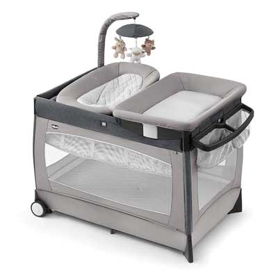 #1. Chicco Lullaby All-in-1 Baby Napper Bassinet Changing Station & Playard (Nottingham)
