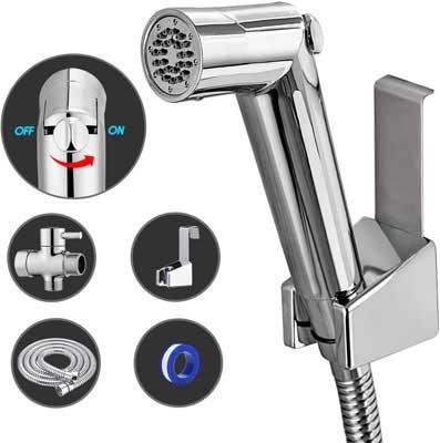 #5. ANZA Premium Water Shattaf Pressure Control Hand Held Bidet Toilet Cleaner