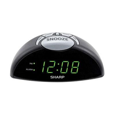 #4. Sharp Digital Alarm Clock with USB Port