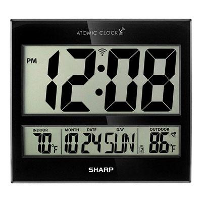 #9. Sharp Atomic Digital Wall Clock