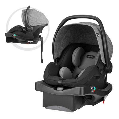 7. Evenflo LiteMax Infant Car Seat, Meteorite