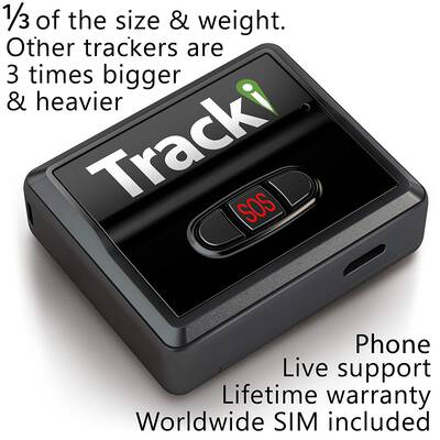 #7. Tracki Magnetic Hidden Portable Mini Real-Time GPS Tracker for Car Vehicle Kids Bike-Auto