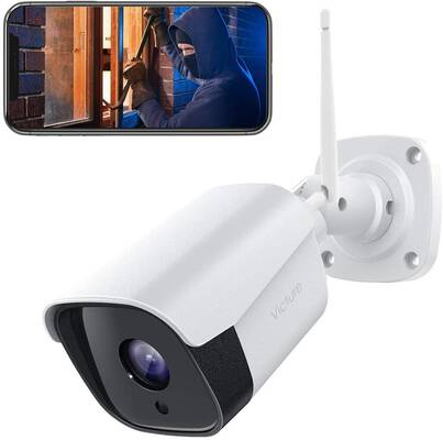 10. Victure 2-Way 2.4G Bullet 1080P IP66 Weatherproof Wi-Fi Outdoor Security Camera