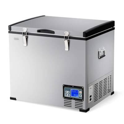 #1. COSTWAY 63-Quart Portable & Compact Chest Freezer Travel Car Freezer for Meat Drinks & Veggies