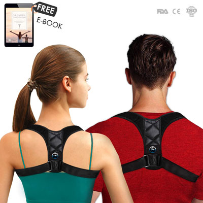 7. Orca Strike Posture Corrector Comfortable Upper Back Brace and Clavicle Support