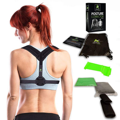 4. Kinetic Sports Comfortable Posture Corrector for Men and Women
