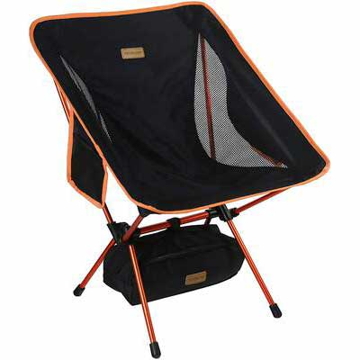 #6. TREKOLOGY YIZI GO Compact Ultra-Light Folding Backpacking Packable Chair for Camping