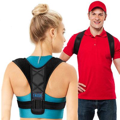 2. Taisk Upper Back Brace Posture Corrector for Men and Women