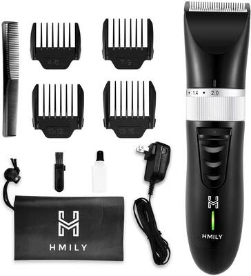 #5. Hmily Professional Cordless Ceramic Blade Quick Charge Men's Hair Clipper for Family Use