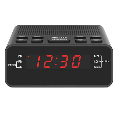 #8. JINGSENSE Digital Alarm Clock with USB Port