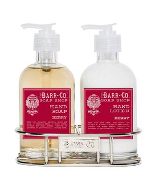 #1. Barr Co 8oz Hand Soap and Lotion Duo (Berry)