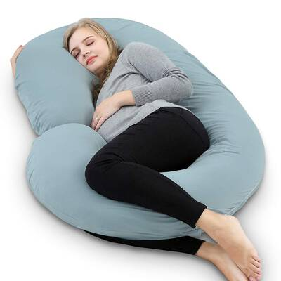 #2. INSEN Pregnancy Pillow with Jersey Cover