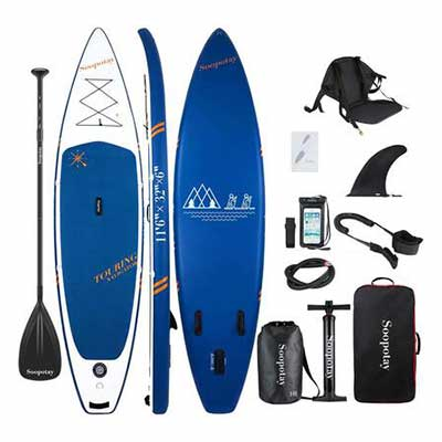 #1. Soopotay iSUP Package Inflatable SUP Stand Up Paddle Board w/All Accessories