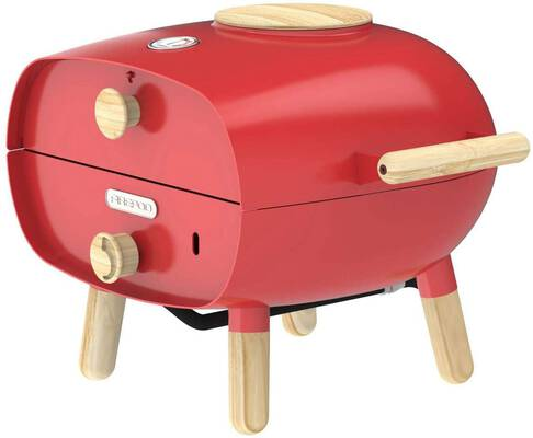 #5. The Firepod Portable Pizza Oven, Red