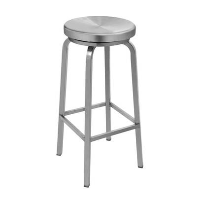 #2. IRICA Stainless Steel 30inch Swivel Round Seat Backless Bar Stool for Indoor Use (Satin Brushed Finish)
