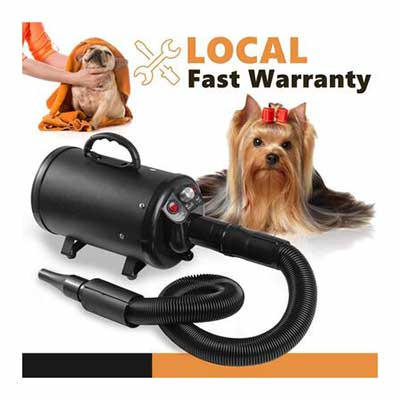 #6. Petnf Upgraded 3.2 HP Stepless Adjustable Speed High-Velocity Air Forced Dryer for Dogs