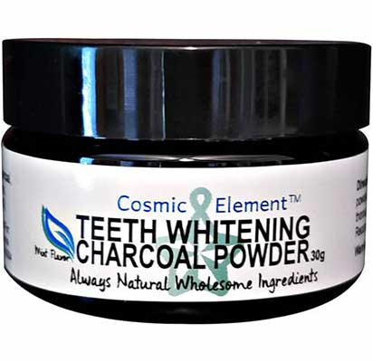 10. Cosmetic Element 1 Oz natural Toothpaste Freshens Breath Teeth Whitening Charcoal Powder