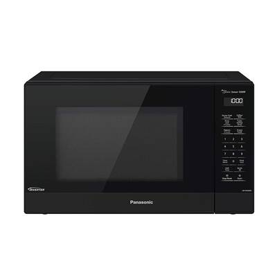 #4. Panasonic NN-SN65KB 1200W 1.2cu. Ft. Popcorn Button Countertop Microwave Oven (Black)