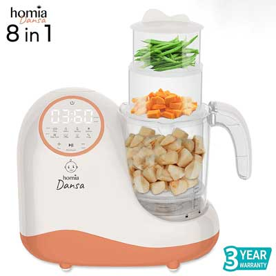 #7. Homia 8-in-1 20 Oz 110V only Food Maker Chopper Grinder Processor for Toddlers