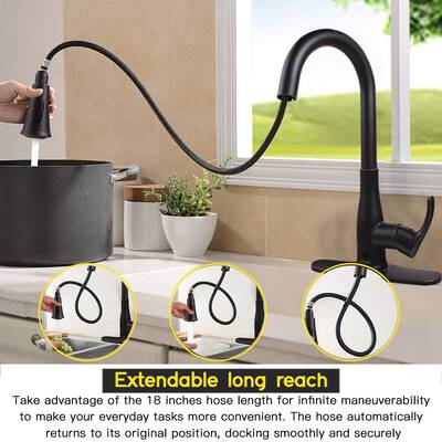 #1. SOOSI Touchless Motion Sensor 3 Function Lead-Free Kitchen Sink Faucet (Bronze Stainless Steel)