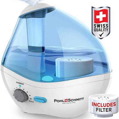 #9. POHL SCHMITT Humidifier for Bedrooms with a Whisper-Quiet Operation