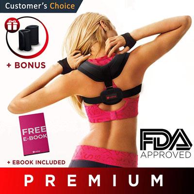 9. Velsy Premium Adjustable Bodywellness Back Posture Corrector
