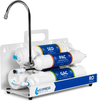 #5. Express Water 4-Stage RO Countertop Reverse Osmosis Water Filter System Express Water