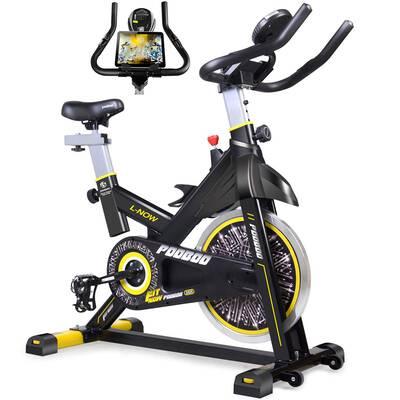 #5. pooboo Indoor Cycling Bike, Belt drive