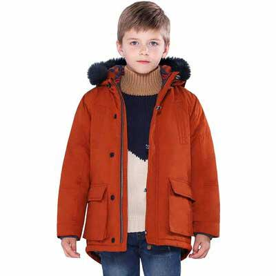 2. SOLOCOTE Warm Heavyweight Windproof Hooded Outwear Boys' Winter Coat Jacket
