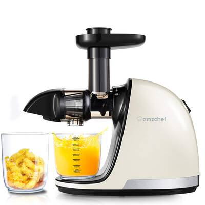 #5. AMZCHEF Slow Juicer with Quiet Motor and Reverse Function