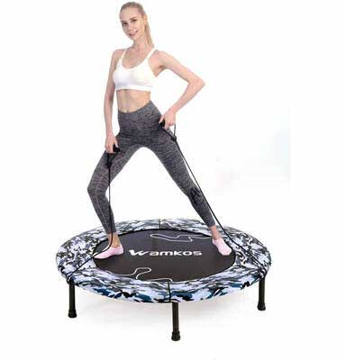 #7. Wamkos 40Inch Max Load 220lbs Foldable Indoor Rebounder Mini Exercise for Adults & Kids