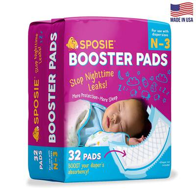#9. Select Kids Sposie Overnight Baby Diaper Booster Pads for Newborns