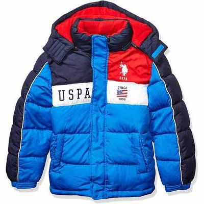 10. US Polo Association Iconic Logos Zipper Closure Hoody Boy's Big Bubble Winter Coat
