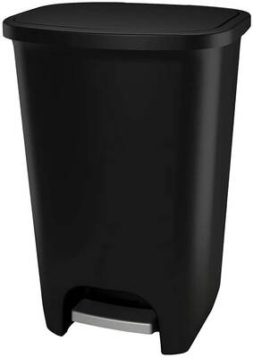 #9. Glad 75L Extra-Capacity Fits All 20 Gallon Trash Bags Plastic Step Can (Matte Black)