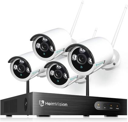 3. Heimvision 1080P Waterproof Motion 8CH NVR 4-Pcs Wireless Outdoor Security Camera