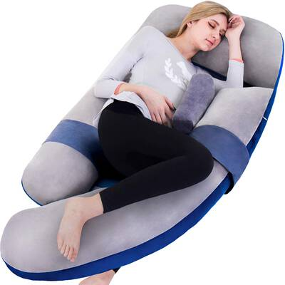 #5. AS AWASLING 60 Inches Full Body Pregnancy Pillow
