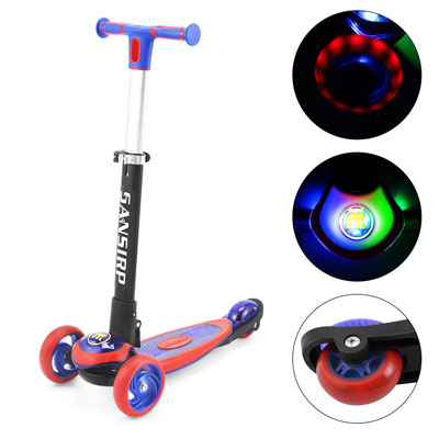 8. SANSIRP Kids' Kick Scooter, Adjustable Handle for Little Boys and Girls
