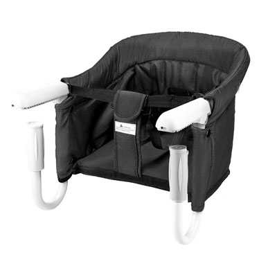 #7. BeMAX Washable Feeding Seat Tight Fixing Clip Safe Hook-on High Chair for Baby or Toddler (Black)