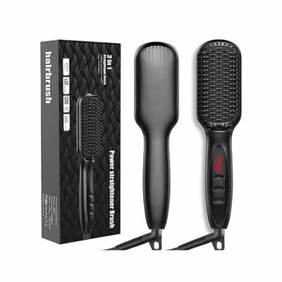 #10. JUMP HIGH Ionic Hair Straightening Brush With Fast MCH Ceramic Heating