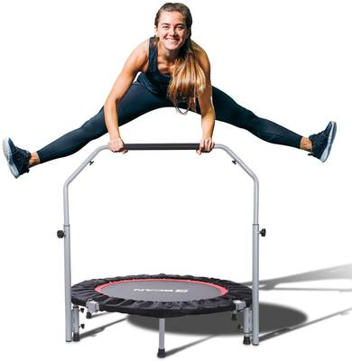 #10. BCAN 40 Inch Max Load 330lbs Foldable Mini Trampoline for Adults & Kids Indoor/Garden Workout