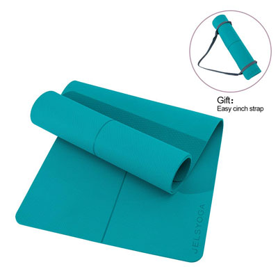 7. JELSYOGA Eco-Friendly TPE Non-Slip 6mm Thick Yoga Mat