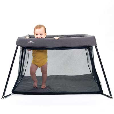 #9. UNiPlay Travel Waterproof Breathable Portable 120lbs Support Baby Playard