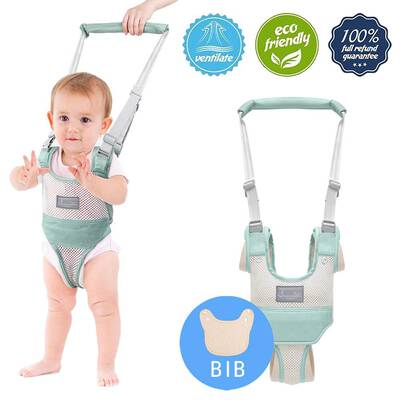 #8. Autbye Toddler Walking Assistant with Detachable Crotch for Infant and Toddlers (Green-A)