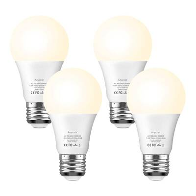 #6. Aoycocr Smart Light Bulb Dimmable Soft White 2700K RGBW