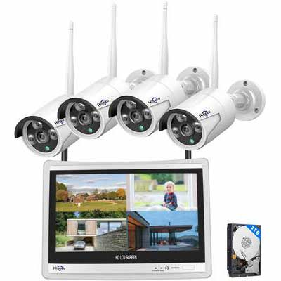 1. Hisseeu 2MP 8CH Expandable 1080P Night Vision 3TB HDD Wireless Security Camera