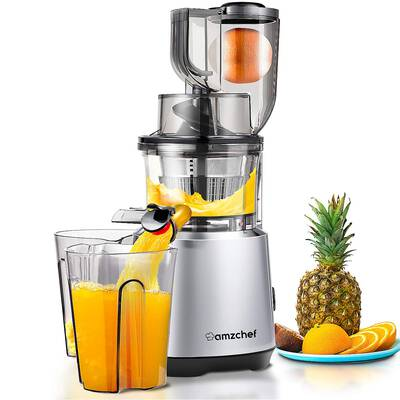 #4. AMZCHEF Slow Masticating Juicer with a Big Feed Chute