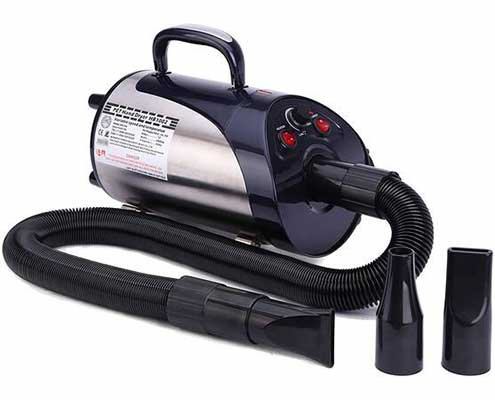 #3. NBF 3.2 HP Stepless Adjustable Speed Pet Professional Grooming Blower w/Heater