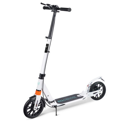 2. Macwheel Foldable and Height Adjustable Kick Scooter for Teens & Adults