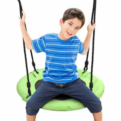 9. Odoland 24Inch Children Tree Swing with Adjustable Hanging Ropes